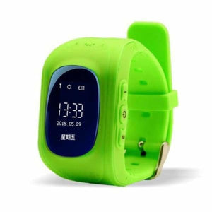 Q50 Kids Smartwatch with GPS Location Finding (SOS Button) - Green / English Version - Home