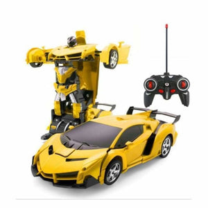 RC Transforming Car - RC Voitures - Yellow - rc-transforming-car