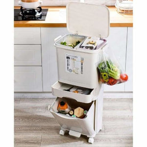 Recyclable vertical wheels household storage - waste bins - recyclable-vertical-wheels-household-storage