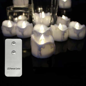 Remote Controlled LED Candles - Candles - 12pcs white remote - perfect-flames-less-candle