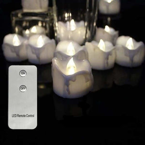 Remote Controlled LED Candles - Candles - 6 pcs white remote - perfect-flames-less-candle