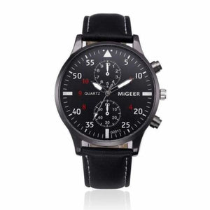 Retro Design Chronograph Watch Collection - Black