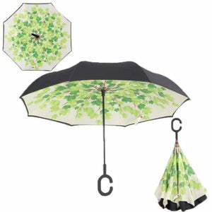 Revolutionary Upside Down Reverse Double Skin Umbrella - Green shade - Umbrellas