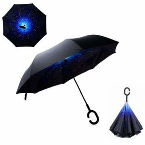 Revolutionary Upside Down Reverse Double Skin Umbrella - Stars - Umbrellas