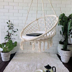 Round Hammock Swing Chair - Hammocks - White -