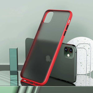Shockproof Transparent Case For iPhone - Home - For iPhone 6 6S / Red -