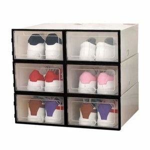 Shoes Storage Box - Home - Black - shoes-storage-drawer-container