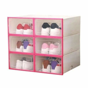 Shoes Storage Box - Home - Pink - shoes-storage-drawer-container