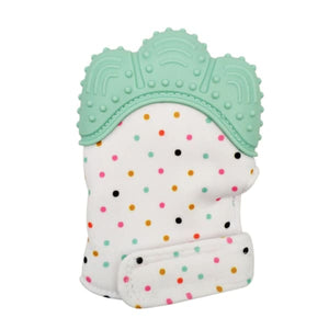 Silicone Baby Mitten Teethers - Light Green