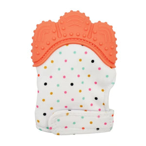 Silicone Baby Mitten Teethers - Orange