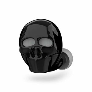 Skull Bluetooth Earphone with Microphone - Bluetooth Earphones & Headphones - Black - skull-bluetooth-earphone-with-microphone