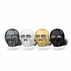 Skull Bluetooth Earphone with Microphone - Bluetooth Earphones & Headphones - skull-bluetooth-earphone-with-microphone