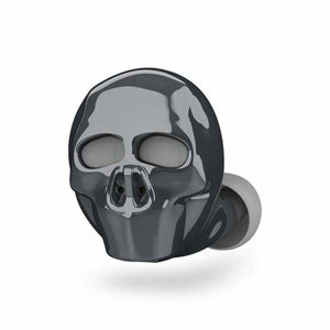 Skull Bluetooth Earphone with Microphone - Bluetooth Earphones & Headphones - Gray - skull-bluetooth-earphone-with-microphone