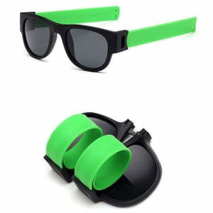 Slap Fashion Polarised Sunglasses - GREEN - Sunglasses