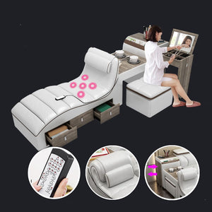 Smart Bed With Massager Stool and Storage - Beds