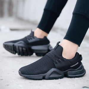 Sneakers Lightweight Casual Shoes - Black / 7