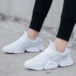 Sneakers Lightweight Casual Shoes - White / 7