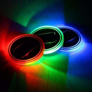 Solar Powered LED Car Cup Mat - Solar Lamps