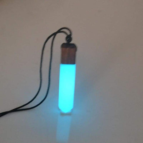 solid wood luminous necklace - Power Necklaces