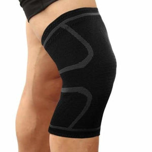 Sports knee support brace - elbow & knee pads - black with grey / s - sports-knee-support-brace