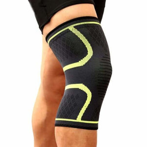 Sports knee support brace - elbow & knee pads - light green / s - sports-knee-support-brace