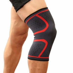 Sports knee support brace - elbow & knee pads - red / s - sports-knee-support-brace