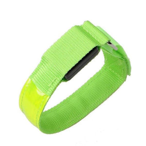 Sports Led Night Running Armband - Green - Bicycle Light