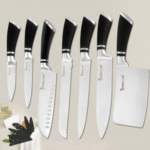Stainless Steel Chef Knives - Kitchen Knives - H.7 Pcs set - stainless-steel-chef-knives