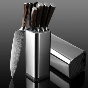 Stainless Steel Knife and Accessories Holder - Blocks & Roll Bags