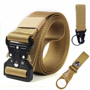 Tactical Military Buckle Belt - Mens Belts - kk Package 1-2 Khaki / 125cm - tactical-military-buckle-belt