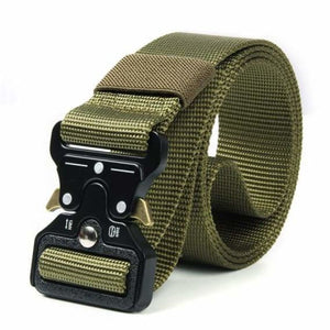 Tactical Military Buckle Belt - Mens Belts - kkkk green / 125cm - tactical-military-buckle-belt