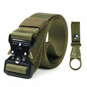Tactical Military Buckle Belt - Mens Belts - kkkk Package 2 green / 125cm - tactical-military-buckle-belt
