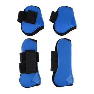 Tendon and Fetlock Boots Horse Protective Gear - Royal blue - Horseshoes