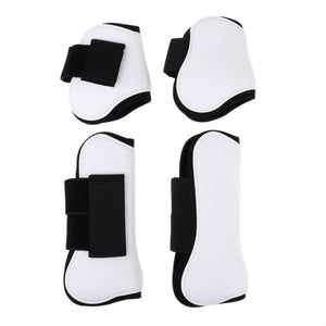 Tendon and Fetlock Boots Horse Protective Gear - White - Horseshoes