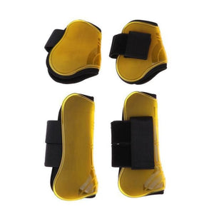 Tendon and Fetlock Boots Horse Protective Gear - Yellow - Horseshoes