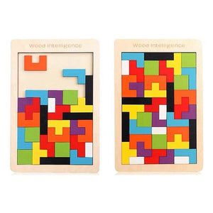 Tetris Colourful Wooden Puzzle