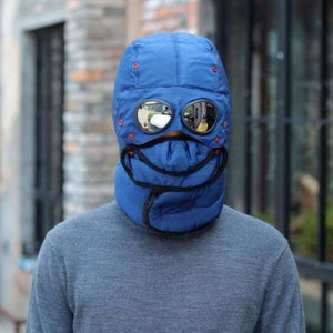 Thermal Winter Trapper Hat - Mens Bomber Hats - Blue - thermal-winter-trapper-hat