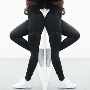 Tights Slim Running Sportswear - Yoga Pants - Black / S - tights-slim-running-sportswear