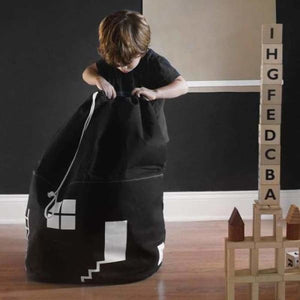 Toy Storage Bag for Kids - Black - Storage Bags