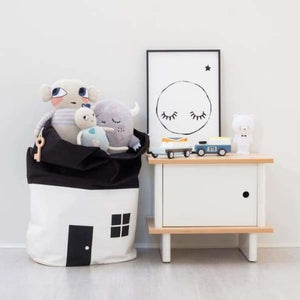 Toy Storage Bag for Kids - White - Storage Bags