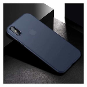 Ultra Thin Matte Case For iPhone X - Blue - Fitted Cases