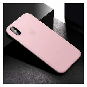 Ultra Thin Matte Case For iPhone X - Pink - Fitted Cases