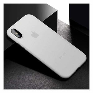 Ultra Thin Matte Case For iPhone X - White - Fitted Cases