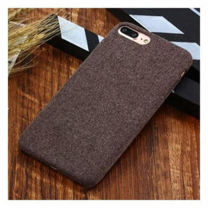 Ultra Thin Texture Case For iPhone - Brown / for iphone XR - Half-wrapped Case