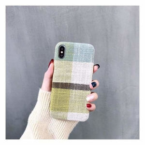 Ultra Thin Texture Case For iPhone - Duck egg blue / for iphone XR - Half-wrapped Case