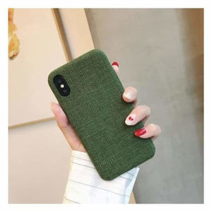 Ultra Thin Texture Case For iPhone - Forrest Green / for iphone XR - Half-wrapped Case