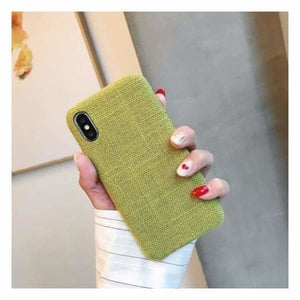 Ultra Thin Texture Case For iPhone - Green / for iphone XR - Half-wrapped Case