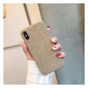 Ultra Thin Texture Case For iPhone - Light Grey / for iphone XR - Half-wrapped Case