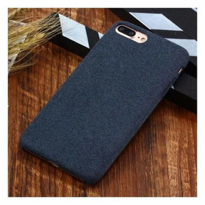 Ultra Thin Texture Case For iPhone - Navy blue / for iphone XR - Half-wrapped Case