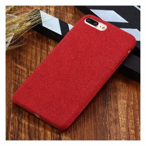 Ultra Thin Texture Case For iPhone - Red / for iphone XR - Half-wrapped Case